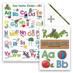 Das bunte Kinder-ABC – Set in Druckschrift von Momm,  Helga