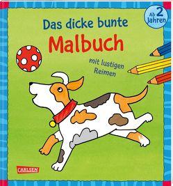 Das dicke bunte Malbuch mit lustigen Reimen von Mensing,  Katja, Sörensen,  Imke
