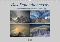 Das Dolomitenmasiv (Wandkalender 2021 DIN A3 quer) von Rufotos