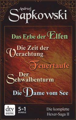 Das Erbe der Elfen – Die Zeit der Verachtung – Feuertaufe – Der Schwalbenturm – Die Dame vom See von Sapkowski,  Andrzej, Simon,  Erik
