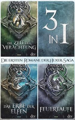 Die ersten drei Romane der Hexer-Saga von Sapkowski,  Andrzej, Simon,  Erik