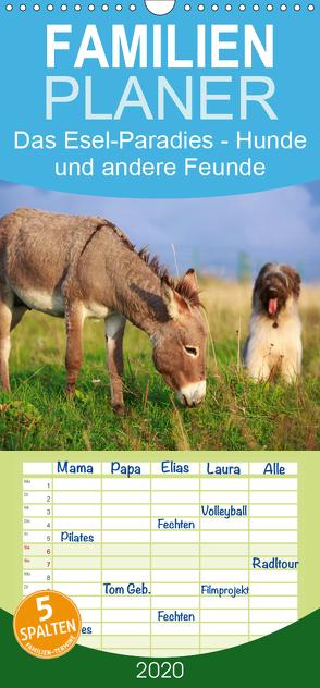 Das Esel-Paradies – Hunde und andere Feunde – Familienplaner hoch (Wandkalender 2020 , 21 cm x 45 cm, hoch) von Stanzer,  Elisabeth