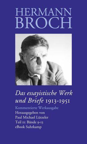 Das essayistische Werk und Briefe von Broch,  Hermann, Lützeler,  Paul-Michael