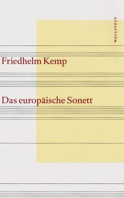 Das europäische Sonett von Kemp,  Friedhelm