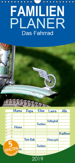 Das Fahrrad – Familienplaner hoch (Wandkalender 2019 , 21 cm x 45 cm, hoch) von Herms,  Dirk