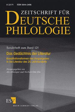 Das Gedächtnis der Literatur von Allkemper,  Alo, Eke,  Norbert Otto