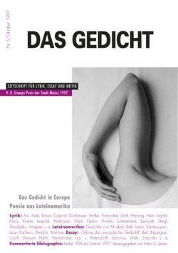 Das Gedicht. Zeitschrift /Jahrbuch für Lyrik, Essay und Kritik / Das Gedicht in Europa von Braun,  Volker, Grass,  Günter, Kroetz,  Franz X, Leitner,  Anton G.