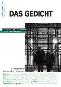 Das Gedicht. Zeitschrift /Jahrbuch für Lyrik, Essay und Kritik / Drei-Länder-Ausgabe von Becker Jürgen, Jandl,  Ernst, Leitner,  Anton G., Mayröcker,  Friederike