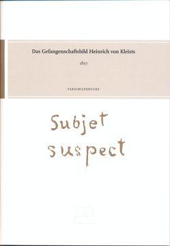 Das Gefangenschaftsbild Heinrich von Kleists von Gribnitz,  Barbara, Lund,  Hannah Lotte