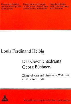Das Geschichtsdrama Georg Büchners