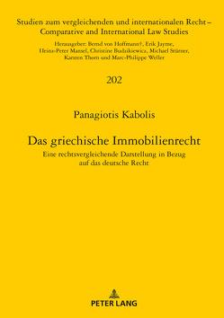 Das griechische Immobilienrecht von Kabolis,  Panagiotis