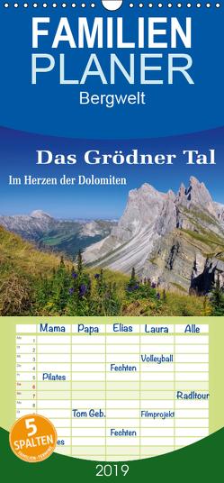 Das Grödner Tal – Im Herzen der Dolomiten – Familienplaner hoch (Wandkalender 2019 , 21 cm x 45 cm, hoch) von LianeM