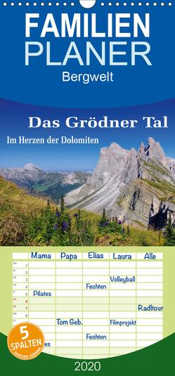 Das Grödner Tal – Im Herzen der Dolomiten – Familienplaner hoch (Wandkalender 2020 , 21 cm x 45 cm, hoch) von LianeM