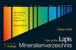 Das große Lapis Mineralienverzeichnis von Weiss,  Stefan