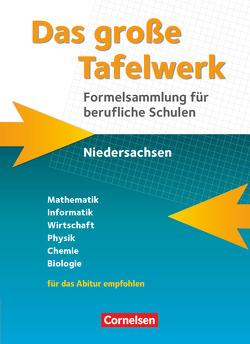 Das große Tafelwerk für berufliche Schulen – Formelsammlung Niedersachsen / Schülerbuch