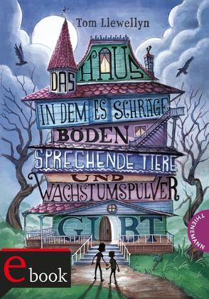 Das Haus, in dem es schräge Böden, sprechende Tiere und Wachstumspulver gibt von Llewellyn,  Tom, Meinzold,  Maximilian, Sparrer,  Petra
