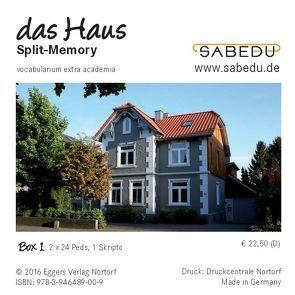 das Haus, Split-Memory + Arbeitsheft, SABEDU Box 01 von Riemann-Eggers,  Margret