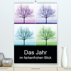 Das Jahr im farbenfrohen Blick (Premium, hochwertiger DIN A2 Wandkalender 2021, Kunstdruck in Hochglanz) von Eichler,  Sandra