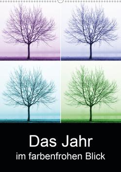 Das Jahr im farbenfrohen Blick (Wandkalender 2021 DIN A2 hoch) von Eichler,  Sandra
