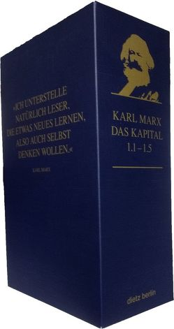 Das Kapital 1.1 bis 1.5 im Schuber von Hecker,  Rolf, Marx,  Karl, Stützle,  Ingo