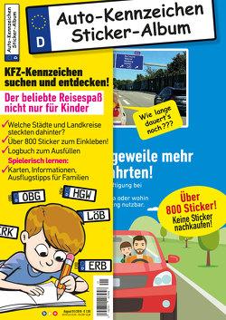 Kinder-Reisespiel KFZ-Kennzeichen Sticker-Sammelalbum fürs Handgepäck, Mitmachbuch für die Ferien, Ratespaß unterwegs auf Reisen, Beschäftigung für Kinder bei langen Autofahrten von Gesierich,  Philipp