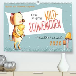 Das kleine Wildschweinchen – Kinderkalender 2020 (Premium, hochwertiger DIN A2 Wandkalender 2020, Kunstdruck in Hochglanz) von Langowski,  Stephanie