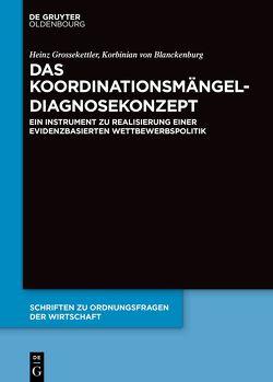 Das Koordinationsmängel-Diagnosekonzept von Grossekettler,  Heinz, von Blanckenburg,  Korbinian