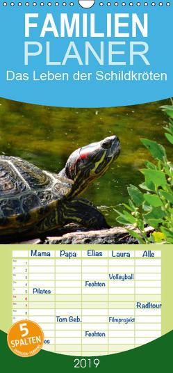 Das Leben der Schildkröten – Familienplaner hoch (Wandkalender 2019 , 21 cm x 45 cm, hoch) von kattobello