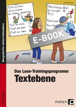 Das Lese-Trainingsprogramm: Textebene von Weber,  Annette