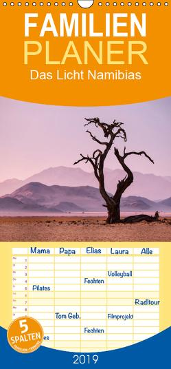 Das Licht Namibias – Familienplaner hoch (Wandkalender 2019 , 21 cm x 45 cm, hoch) von Berger,  Anne