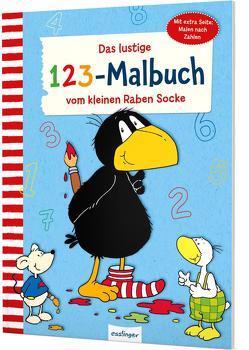Der kleine Rabe Socke: Das lustige 1 2 3 – Malbuch vom kleinen Raben Socke von Rudolph,  Annet