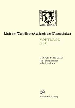Das Mehrheitsprinzip in der Demokratie von Scheuner,  Ulrich