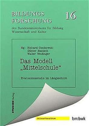 """Das Modell """"Mittelschule"""" von Hanisch,  Günter, Olechowski,  Richard, Weidinger (Hrsg.),  Walter"""