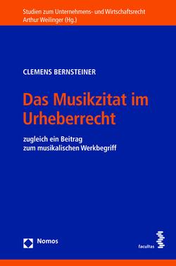 Das Musikzitat im Urheberrecht von Bernsteiner,  Clemens