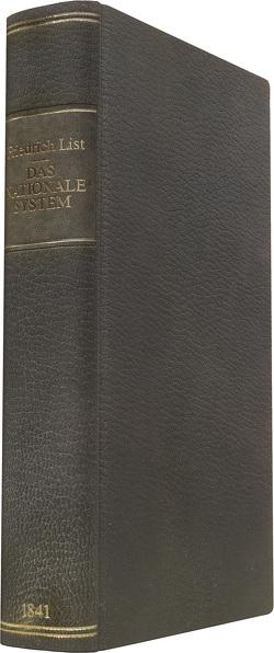 Das nationale System der politischen Oekonomie von List,  Friedrich