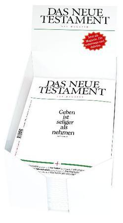 Das Neue Testament als Magazin – Display