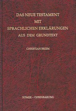 Das Neue Testament mit sprachlichen Erklärungen aus dem Grundtext von Briem,  Christian