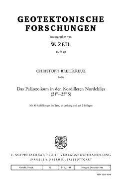 Das Paläozoikum in den Kordilleren Nordchiles von Breitkreuz,  Christoph