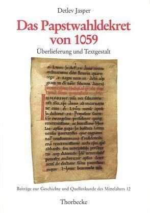 Das Papstwahldekret von 1059 von Jasper,  Detlev