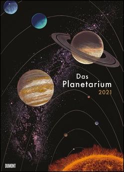 Das Planetarium 2021 ‒ Astronomie im Wand-Kalender ‒ Illustriert von Chris Wormell ‒ Poster-Format 49,5 x 68,5 cm von Prinja,  Raman, Wormell,  Chris