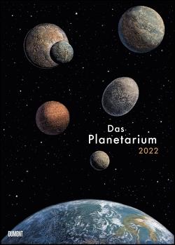 Das Planetarium 2022 ‒ Astronomie im Wand-Kalender ‒ Illustriert von Chris Wormell ‒ Poster-Format 50 x 70 cm von Prinja,  Raman, Wormell,  Chris