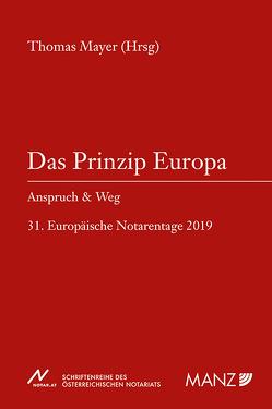 Das Prinzip Europa von Mayer,  Thomas