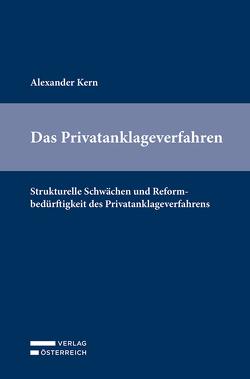 Das Privatanklageverfahren von Kern,  Alexander