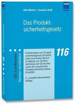 Das Produktsicherheitsgesetz von Geiß,  Joachim, Moritz,  Dirk