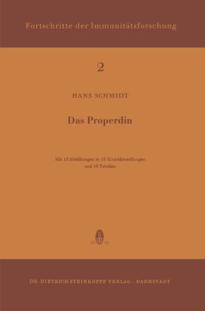Das Properdin von Schmidt,  H