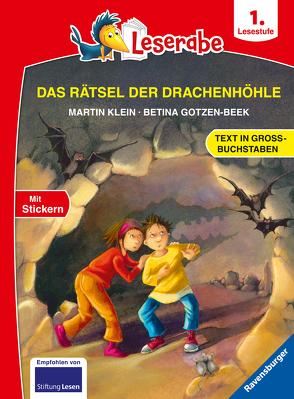 Das Rätsel der Drachenhöhle – Leserabe ab 1. Klasse – Erstlesebuch für Kinder ab 6 Jahren (in Großbuchstaben) von Gotzen-Beek,  Betina, Klein,  Martin