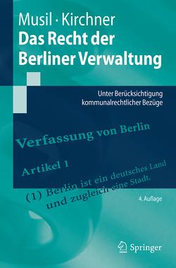 Das Recht der Berliner Verwaltung von Kirchner,  Sören, Musil,  Andreas