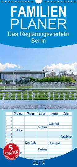 Das Regierungsviertel in Berlin – Familienplaner hoch (Wandkalender 2019 , 21 cm x 45 cm, hoch) von Fiorelino