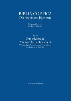 Das sahidische Alte und Neue Testament. Vollständiges Verzeichnis mit Standorten von Schüssler,  Karlheinz