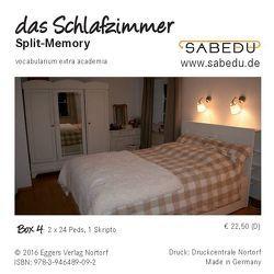 das Schlafzimmer, Split-Memory + Arbeitsheft, SABEDU Box 04 von Riemann-Eggers,  Margret